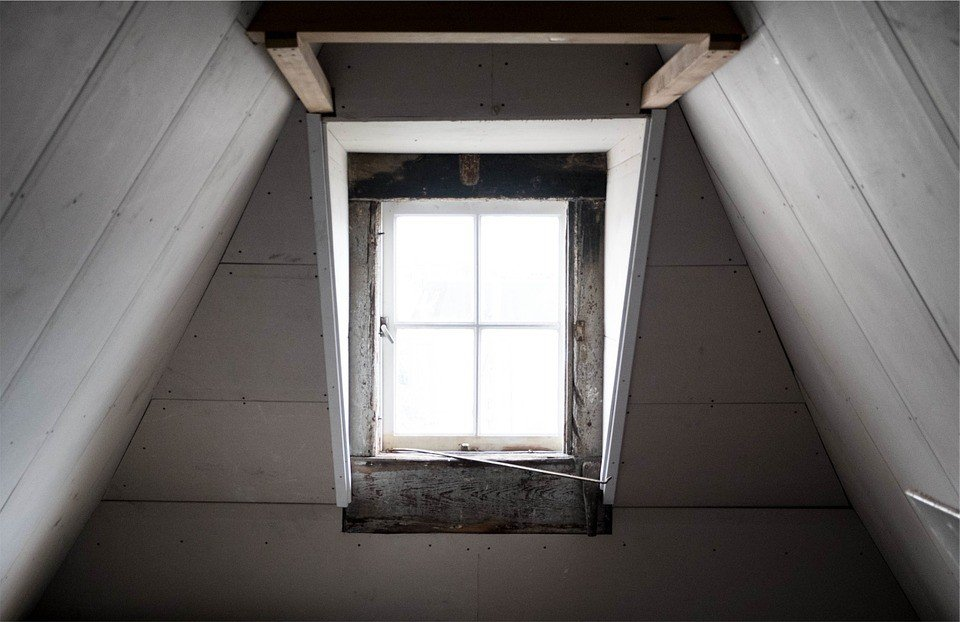 Old window prone to sticking due to settlement
